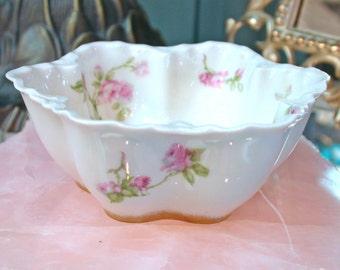 Vintage Mini Open Sugar Bowl, Haviland Schleiger 31a circa 1894-1931