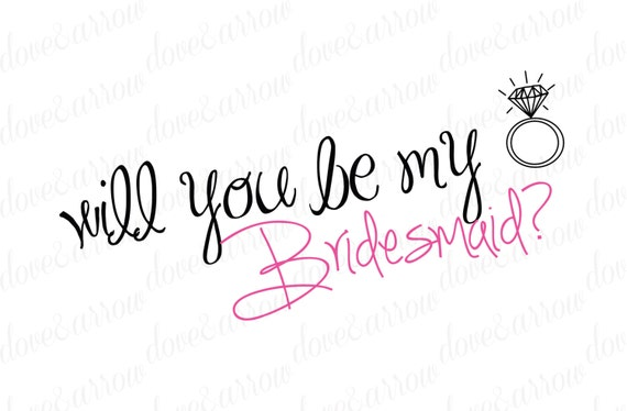 Clean image regarding printable will you be my bridesmaid