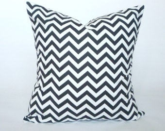 SALE Black & White Chevron Pillow Cover, Decorative Throw Pillow, Accent Pillow, Spring, Pillow Sham, 16x16""