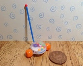 Hand made Dolls house Miniature replica vintage fisher price corn popper 112 scale