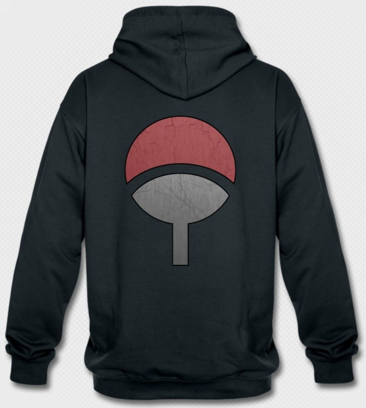 Uchiha Sweater: Inspired Naruto Uchiha Clan Hoodie Hooded By MuckiDesign