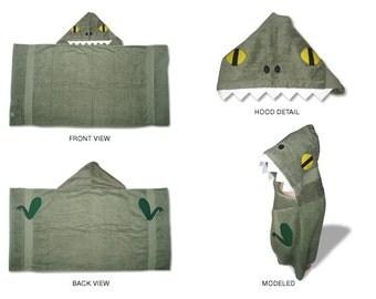 T-Rex dinosaur hooded towel
