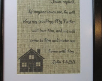 Bible verse wall hanging (framed)