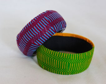 African fabric bracelets