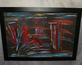 Solitude; An Original Acrylic Painting on Stretched Canvas; Framed; 20x30