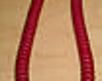 Coiled Phone Handset Cord RJ11 Red 9'