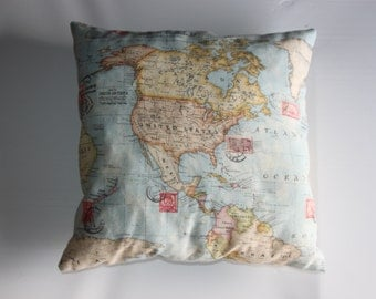 Map of the world Cushion cover
