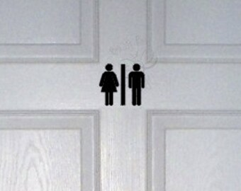Unisex Bathroom Etsy