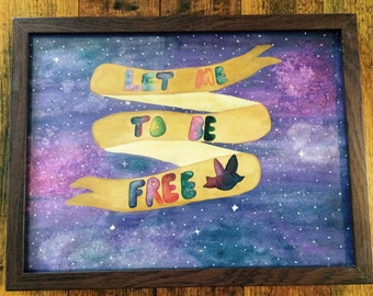 Watercolour custom quote