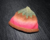 """Hand knit baby """"berry"""" hat"""