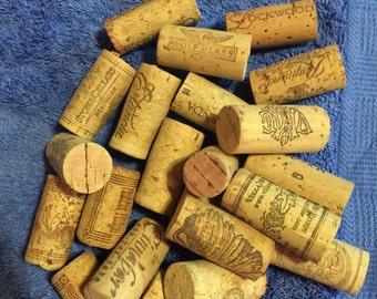 20 Used Wine Corks