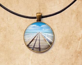 Bridge necklace Sea jewelry Nautical pendant