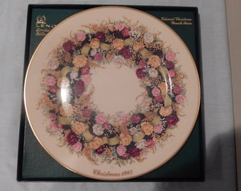 Lenox 1985 Colonial Christmas Wreath Series Limited Edition  10.75""