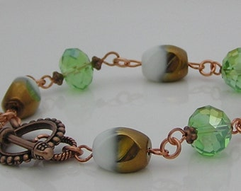 Vintage Style Beaded Bracelet with Glass Beads