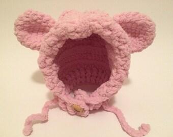 Crochet teddy bear beenie
