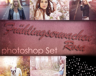 Photoshop action set - spring pink