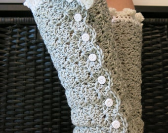 Crochet PATTERN - Elegant Leg Warmers, Instant Download (pdf file), Adult size, Crochet Leg Warmers Pattern