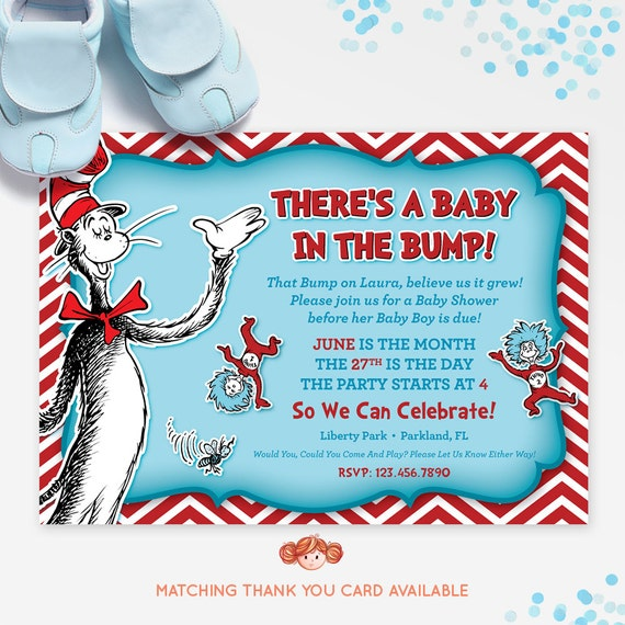 dr seuss baby shower invitation cat in the hat baby shower invitation