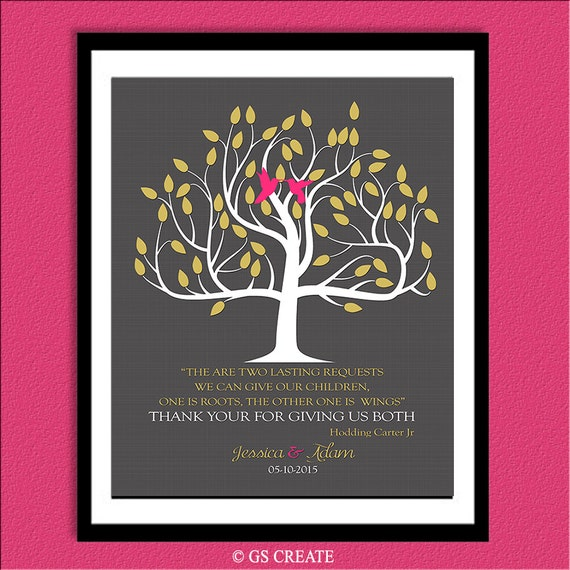 Unique 40th Wedding Anniversary Gift Ideas For Parents : ... Gift Gifts Prints Family Tree. on parent 40th anniversary gift ideas