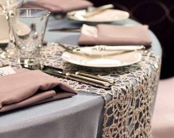 Champagne Table Runners (chemical lace)