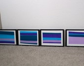 Framed abstract stripe boxes - set of 4 - Sale!