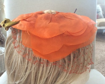 Vintage Flower Hat by Levy's of Memphis