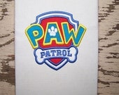 Paw Patrol Logo Applique Machine Embroidery Design Pattern - INSTANT DOWNLOAD