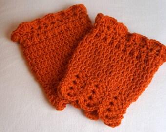 Women's Burnt Orange Boot Cuffs