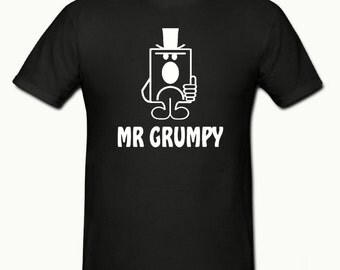 Mr Grumpy t shirt,mens t shirt sizes small- 2xl,fathers day gift,dad gift