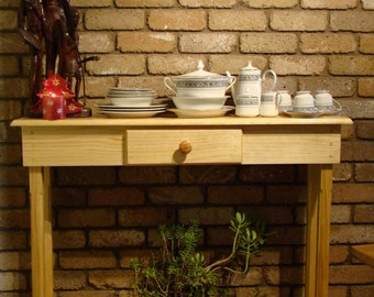 Winston Woodworks Pine Console Entry Way Table with Drawer - Handmade Natural Wood Table - Buffet Table – Hall Table - Wood Furniture