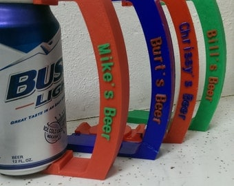 Can Holder with Custom name - 12 oz - Great for Soda, Pop, Beer, and More! - 3D Printed - Christmas Gift