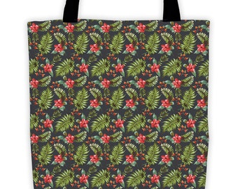 Tropical Floral Night Tote