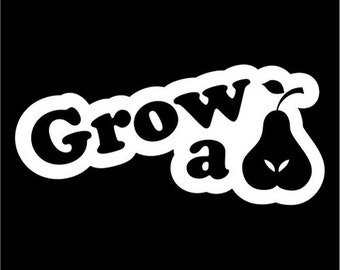 grow a set funny car decal hard hat stickers truck