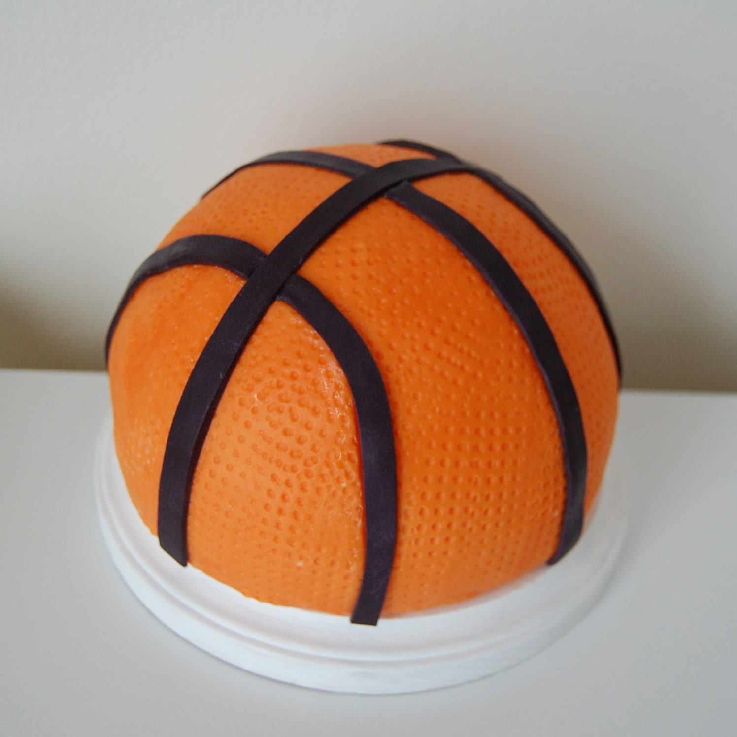 Fondant 3D Basketball Cake Topper
