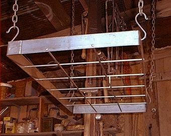 "36"" x 18"" Wrought Iron Hand Forged Hanging Pot Rack. Strong."