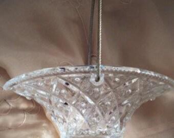Vintage Avon Fostoria Clear Basket