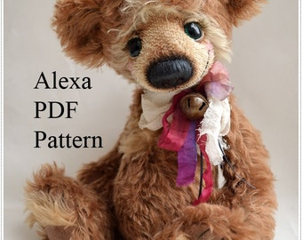 PDF Teddy bear pattern, 13 inches (33 cm)