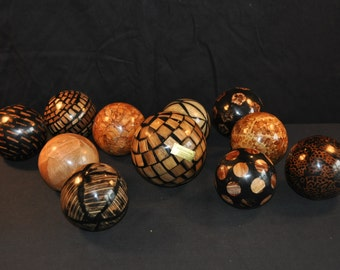 11 Maitland Smith Decorative Ball Lot