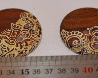 Painted wooden pendant