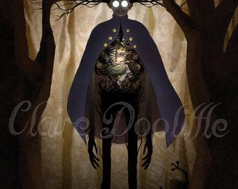 Becoming The Beast ~ Over the Garden Wall Fanart Digital Print