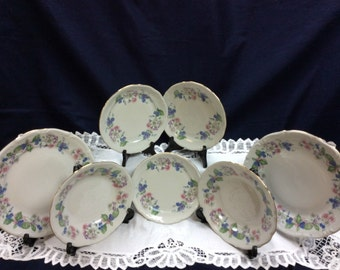 Walbrzych Southington China Dinnerware Garland 2 Bowls 3 Salad & 2 Dinner Plates