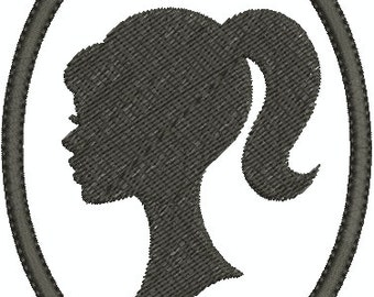 Digital Embroidery Design - Cameo Pin up