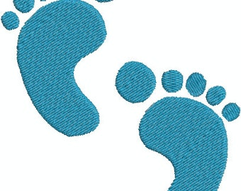Digital Embroidery Design - Baby feet