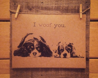 King Charles Cavalier Card