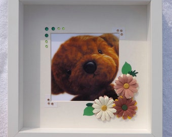 Adorable 3D Teddy Bear Picture Art. Original bear image was painted in oils.
