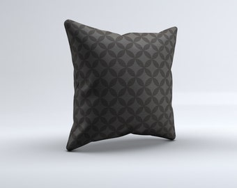 modern gray throw pillow, geometric modern throw pillow, decorative pillow, 16x16, 18x18, 20x20,14x14, brown