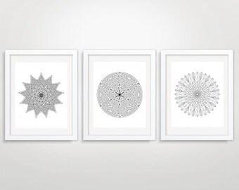 Printable Art,Triptych Wall Art, Set Of 3 Prints, Geometric Art, Geometric Art Prints,  Instant Download, Modern Wall Art