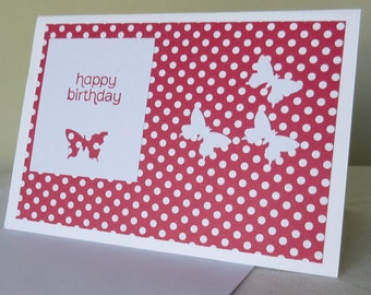 Spotty Butterfly Birthday Card