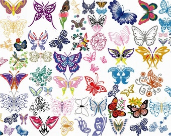 BUTTERFLY designs for embroidery machine, instant download
