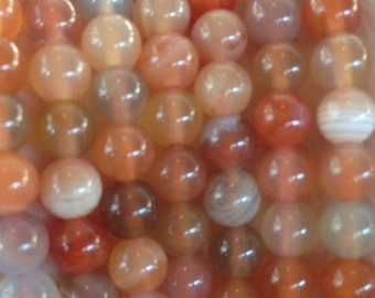 Coral & peach carnelian beads